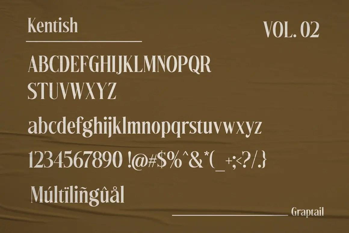 Kentish Serif Display Typeface -3