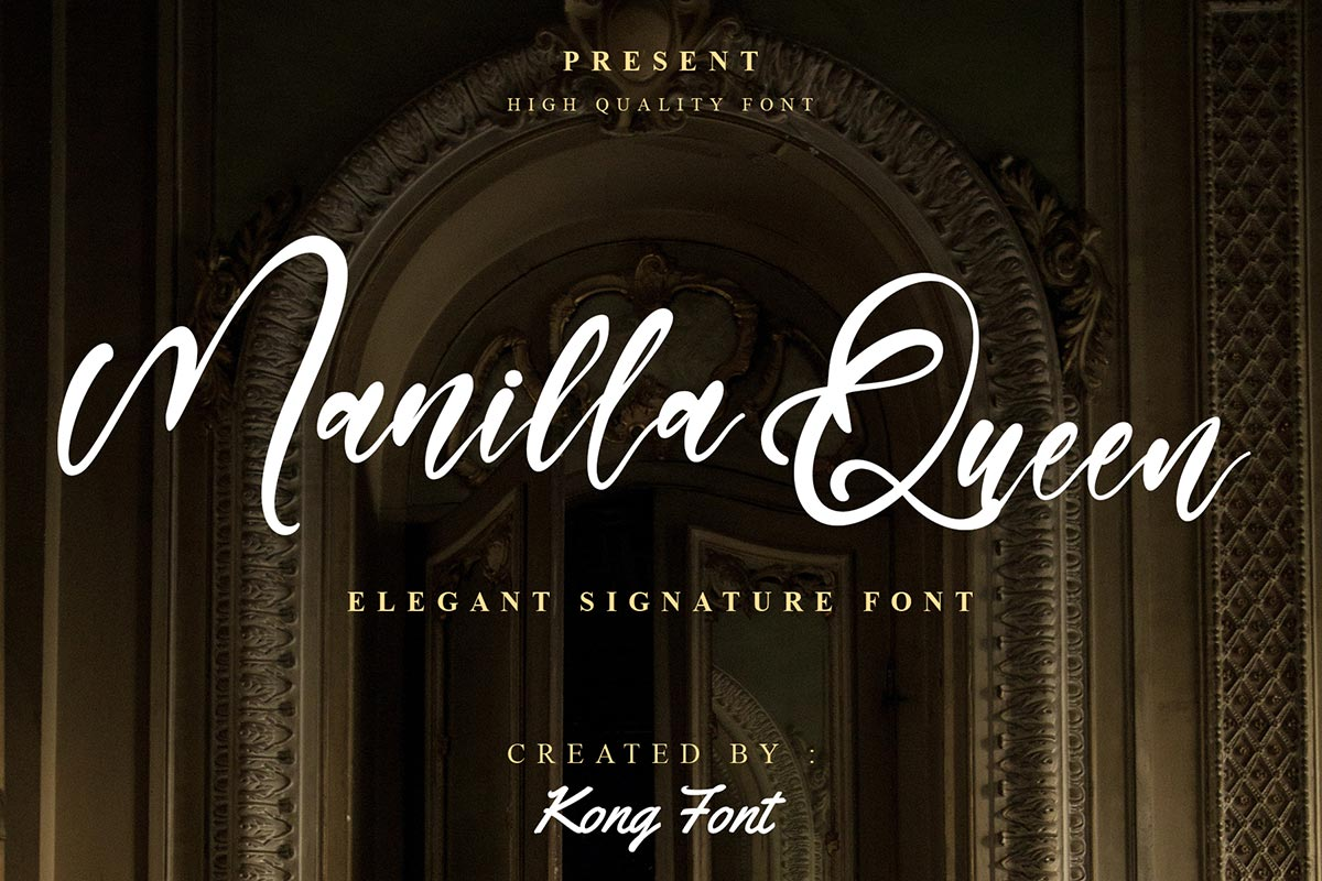 Manilla Queen Calligraphy Font -1