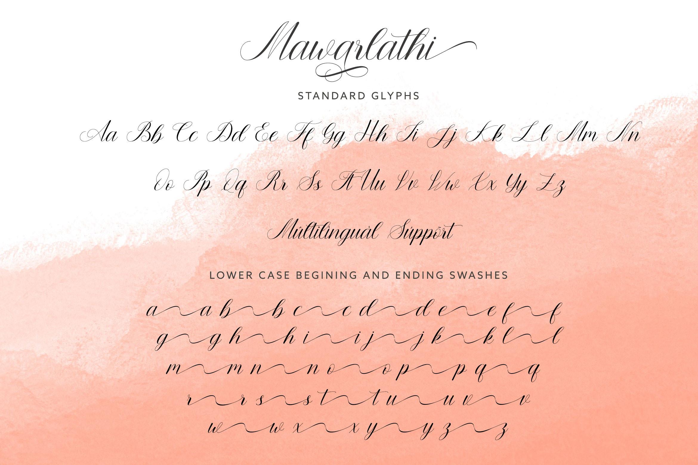 Mawarlathi Modern Calligraphy Font -3