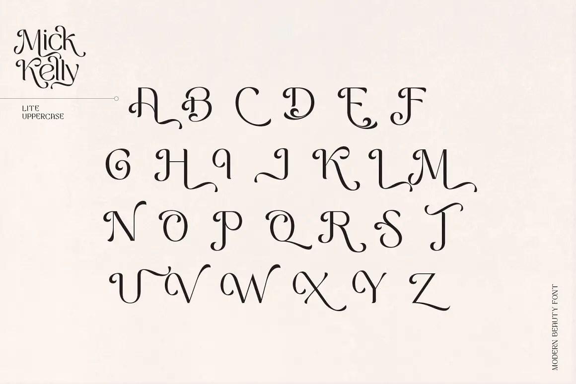 Mick Kelly Modern Beauty Font -3