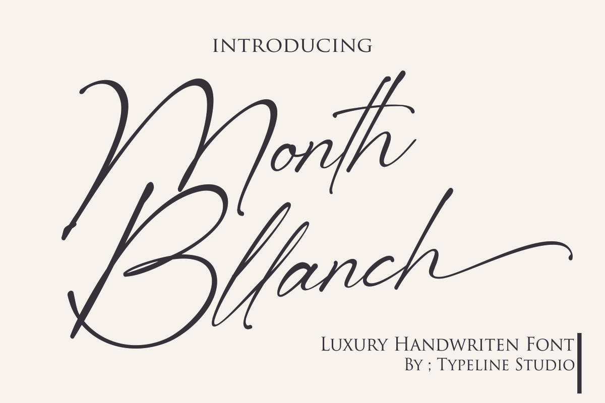 Month Bllach Calligraphy Font -1