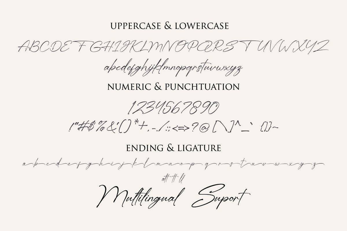 Month Bllach Calligraphy Font -3