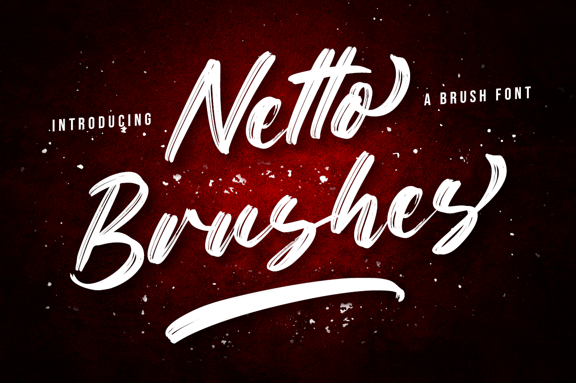 Netto Brushes Script Brush Font -1
