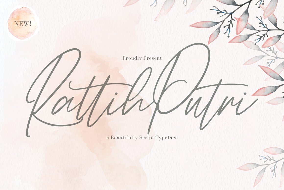 Rattih Putri Script Handwritten Font -1