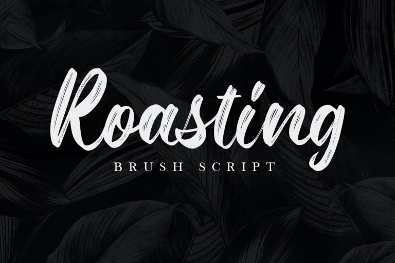 Roasting Brush Script Font -1