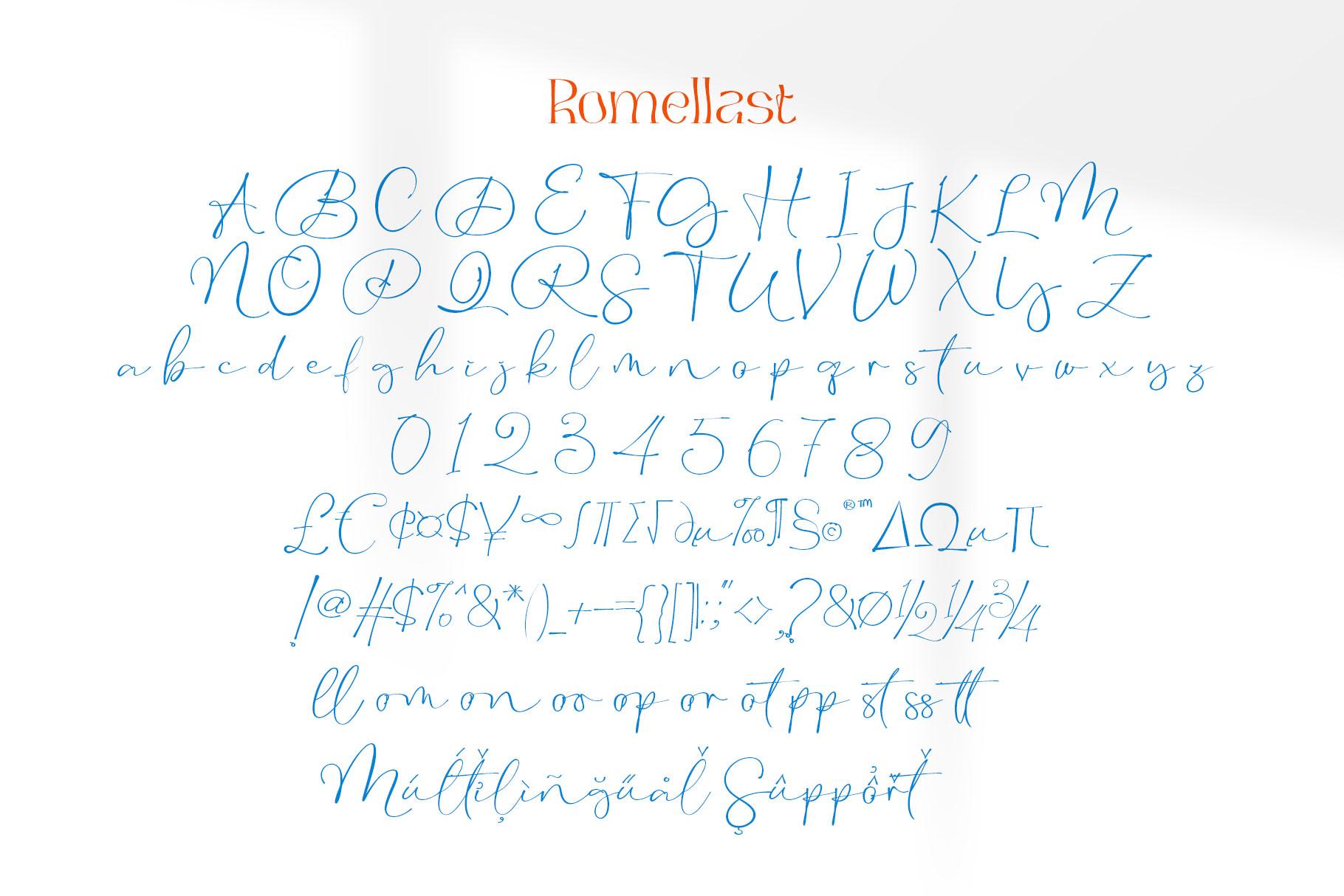 Romellast Handwritten Font -3
