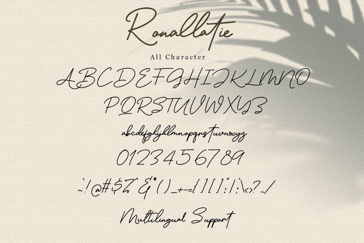 Ronallatie Handwritten Signature Font -3