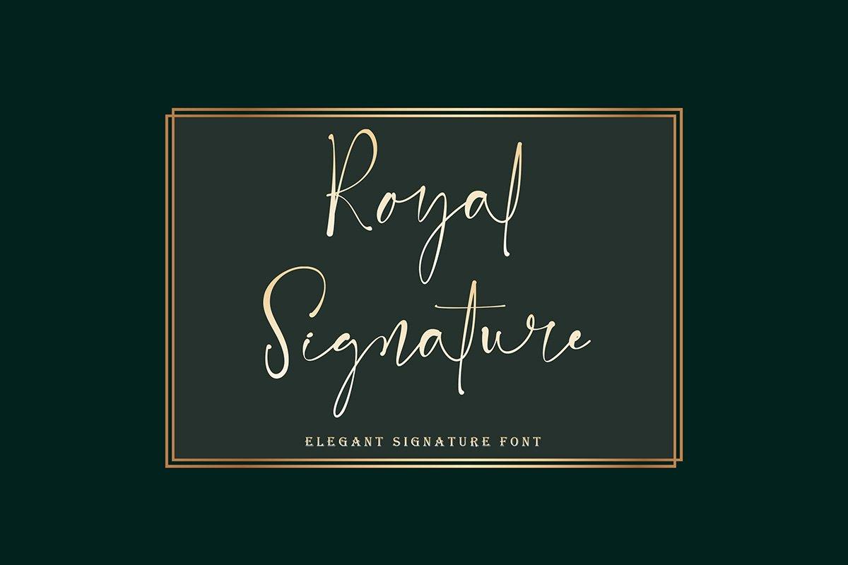 Royal Signature Handwritten Font -1