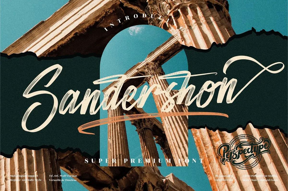 Sandershon Modern Brush Font -1