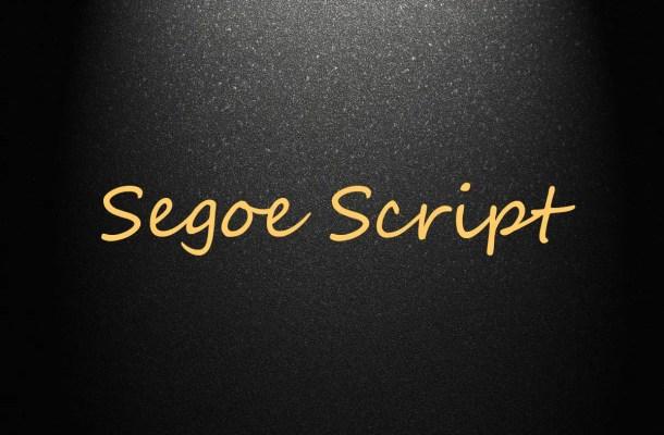 Segoe Script Font