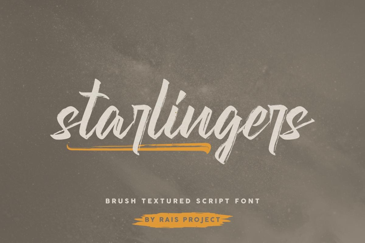 Starlingers Brush Script Font -1