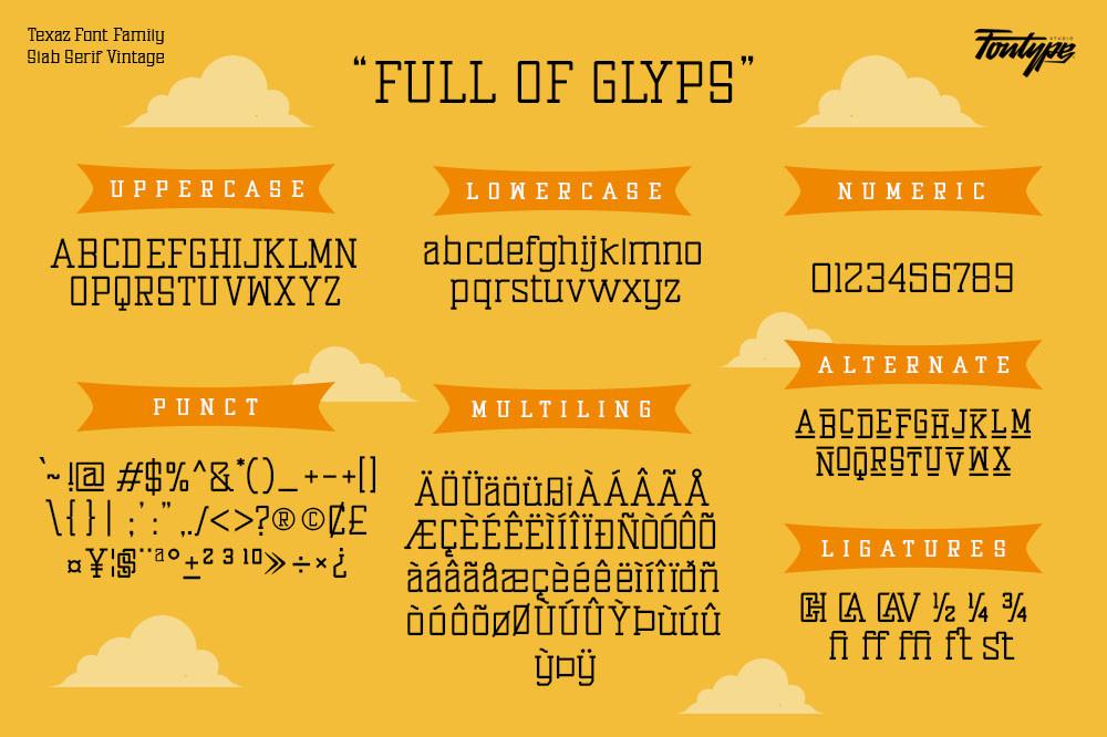 Texaz Slab Serif Font -3
