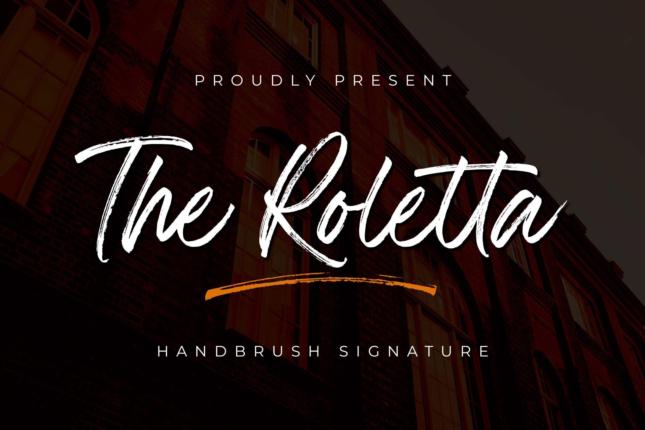 The Roletta Handbrush Signature Font -1