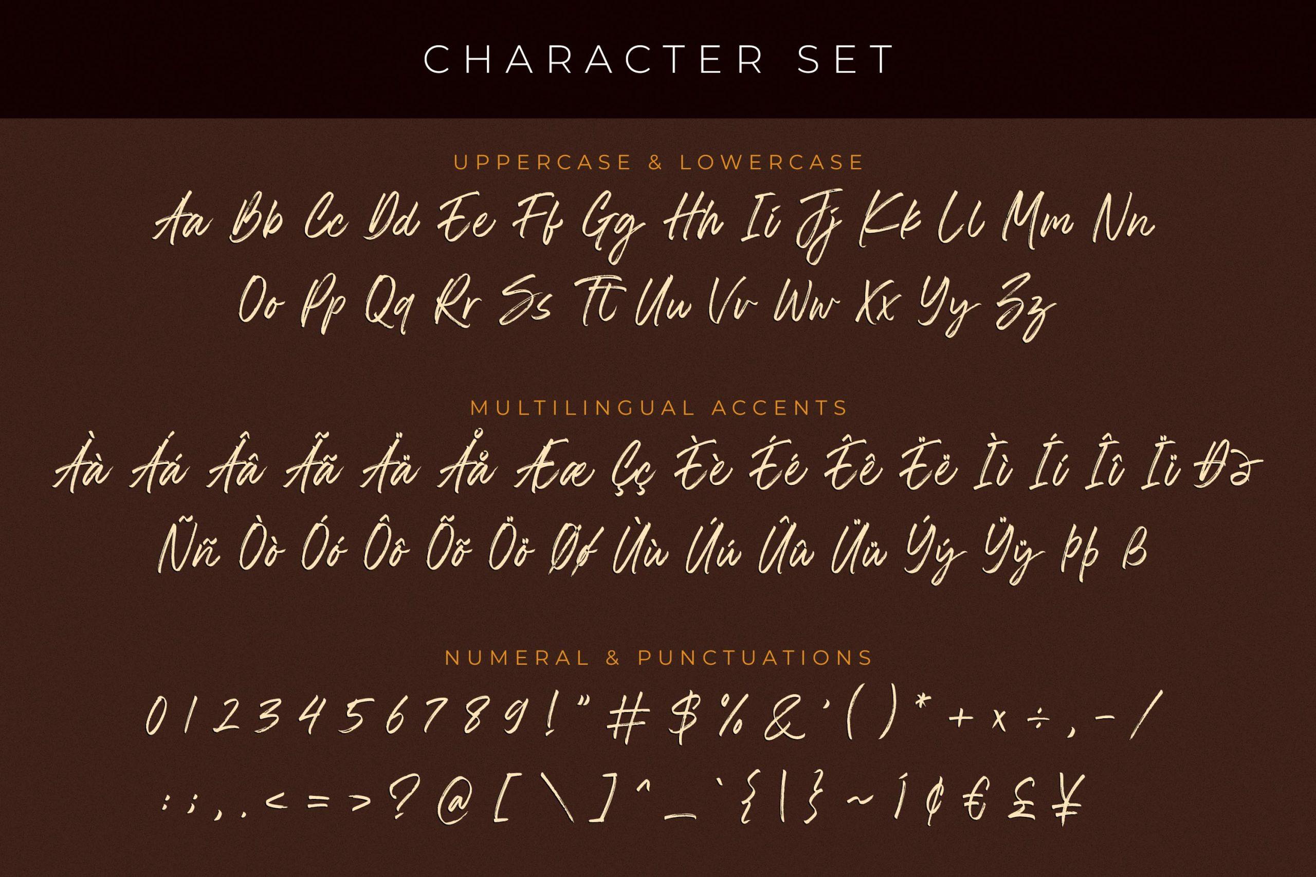 The Roletta Handbrush Signature Font -3