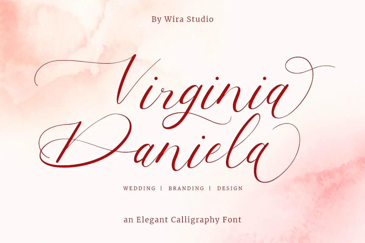 Virginia Daniela Calligraphy Font -1