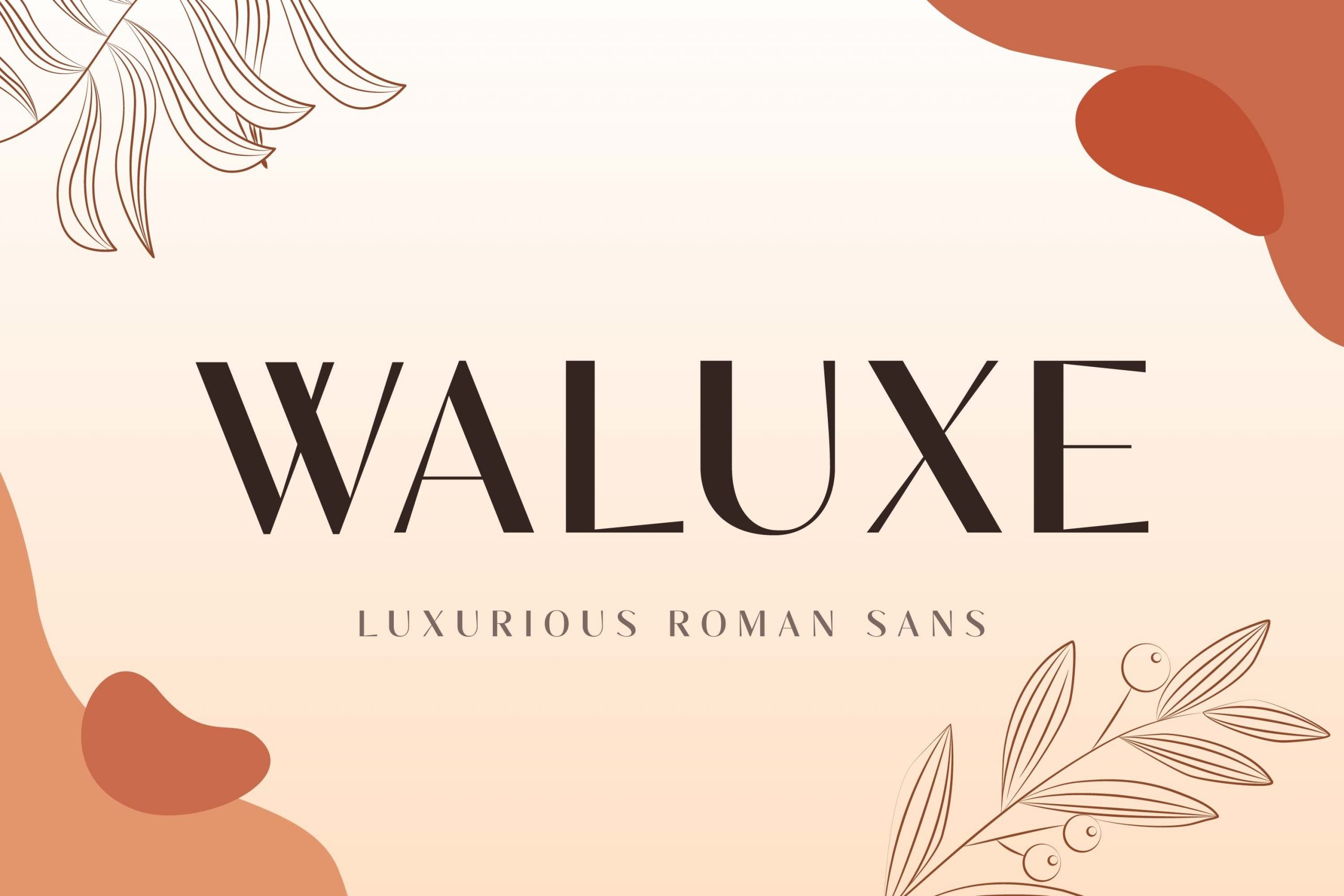 Waluxe Luxurios Roman Sans Font -1