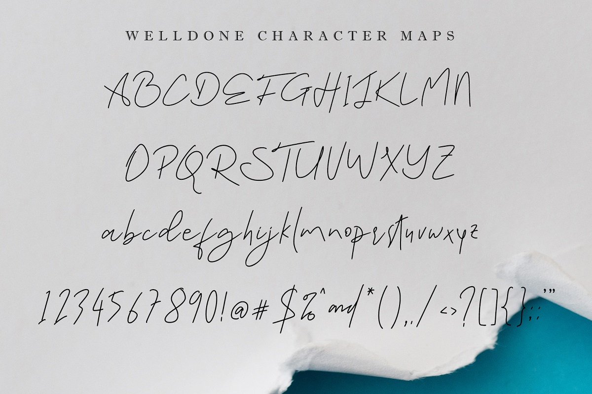 Welldone beautiful Calligraphy Font -3