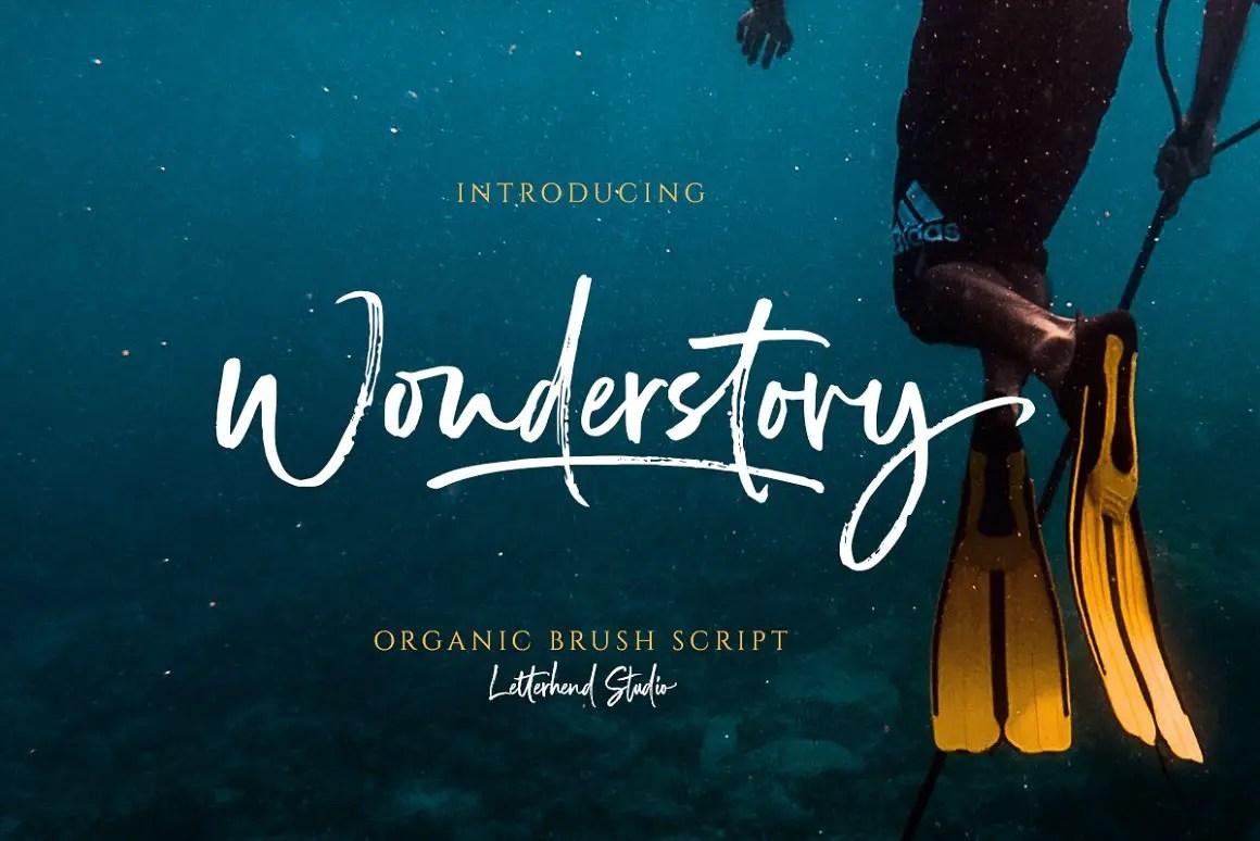 Wonderstory Brush Script Font -1