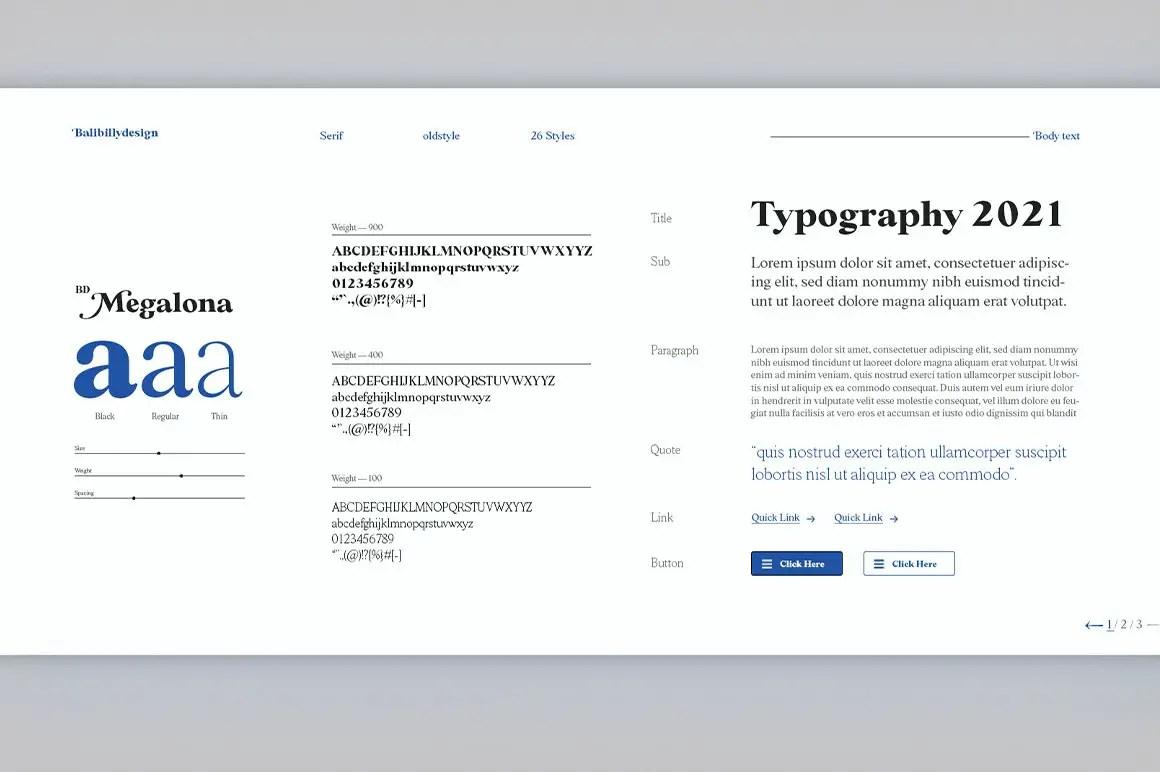 BD Megalona Serif Font -3