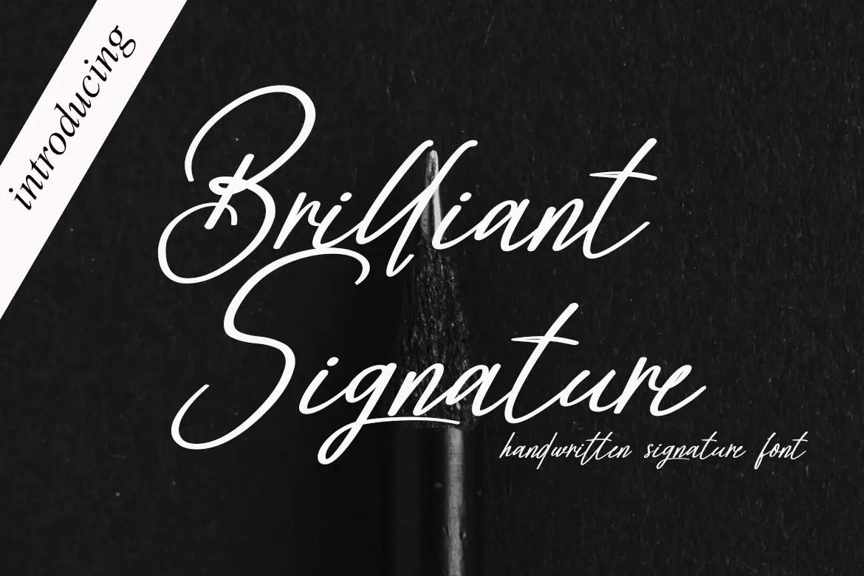 Brilliant Signature Script Font -1