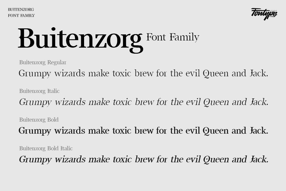 Buitenzorg Serif Font -2
