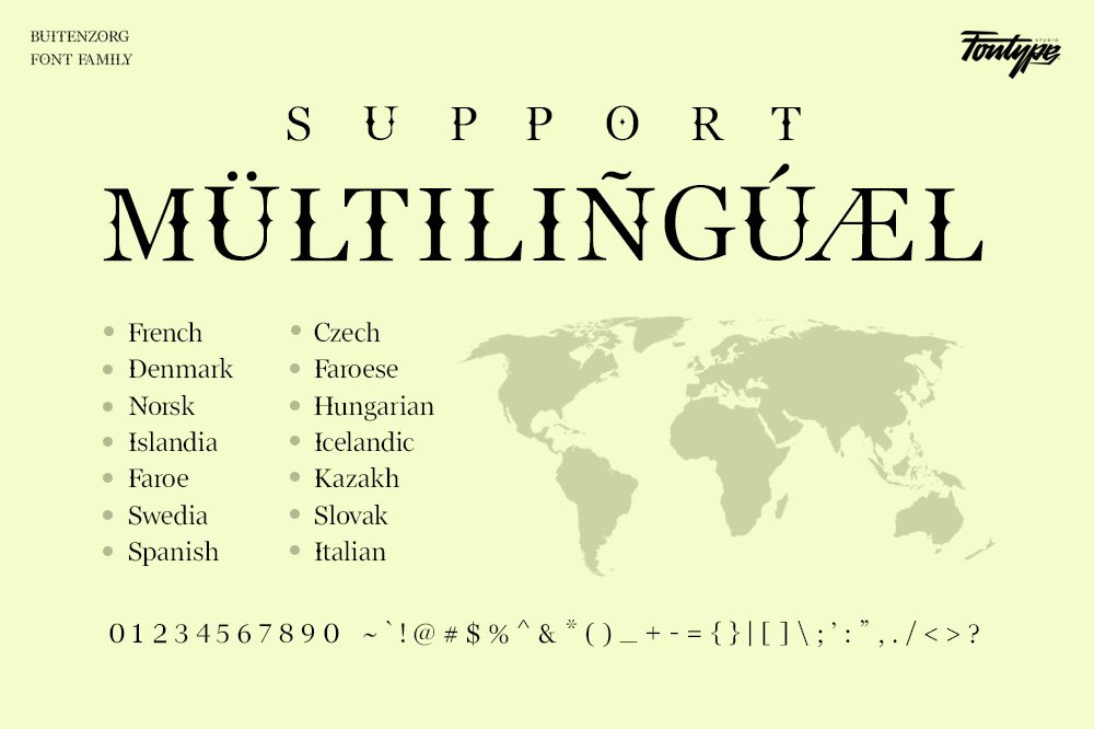 Buitenzorg Serif Font -3