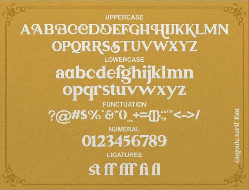 Cagoule Serif Font -3