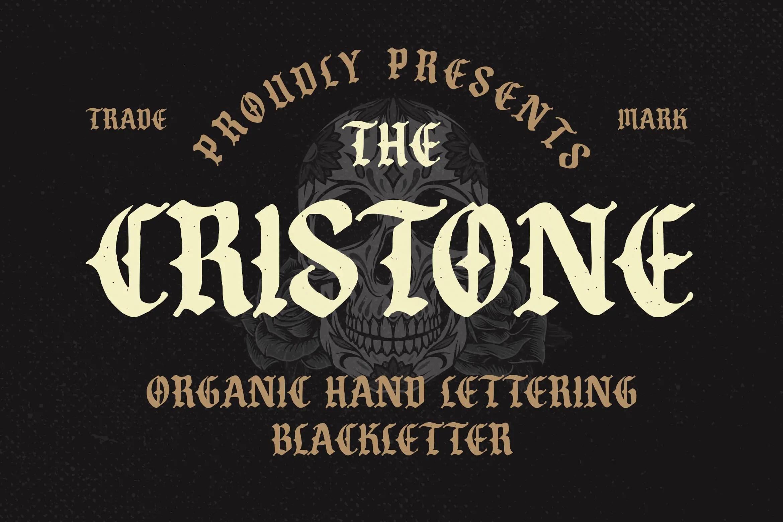 Cristone Blackletter Font -1