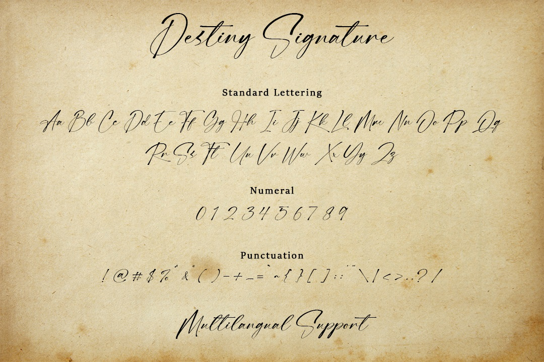 Destiny Signature Handwritten Font -3