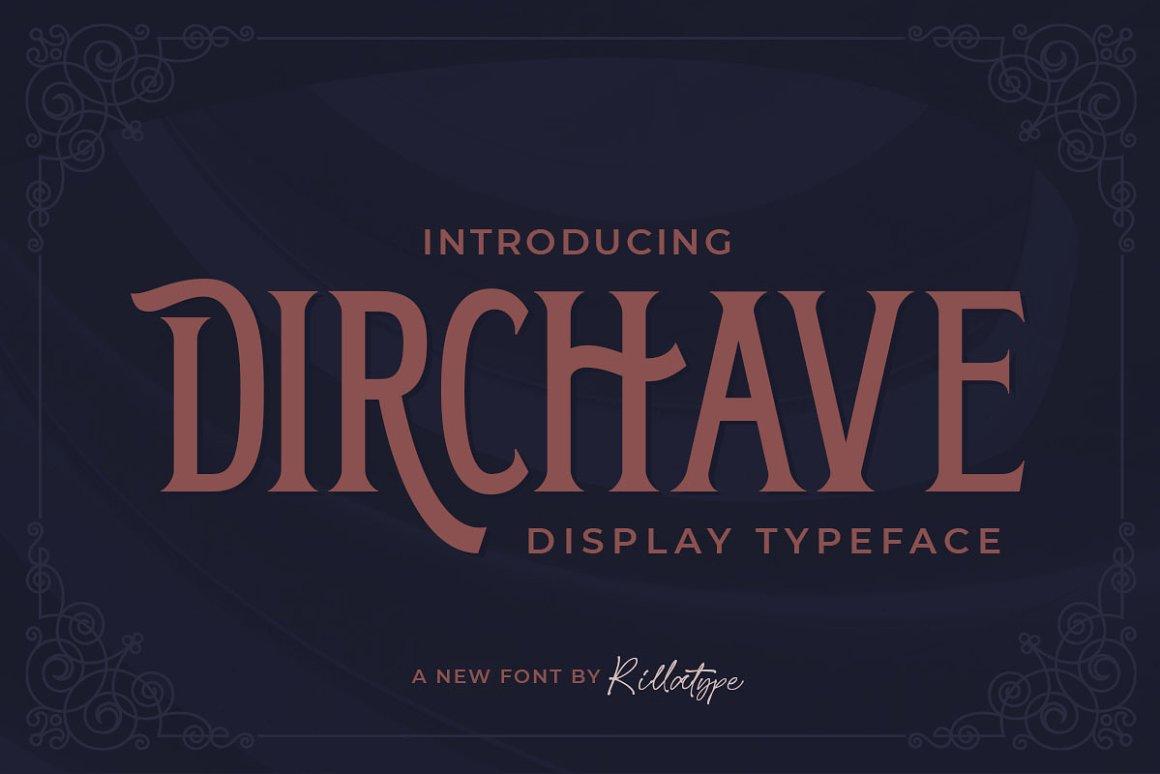 Dirchave Display Typeface -1
