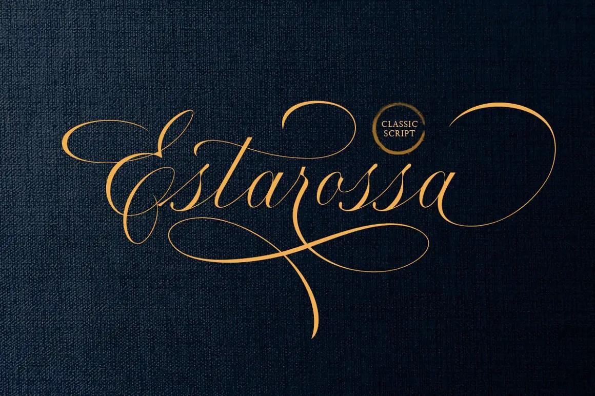 Estarossa Classic Script Font -1