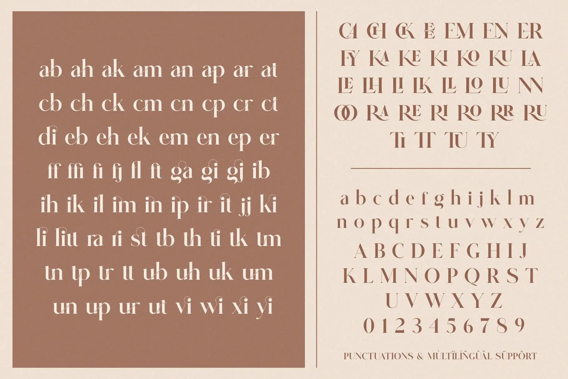 Glitten Ligature Serif Font -3