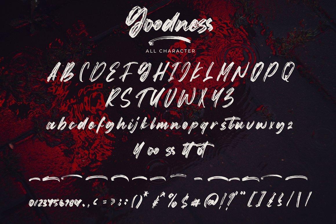 Goodness Hand3ritten Brush Font -1