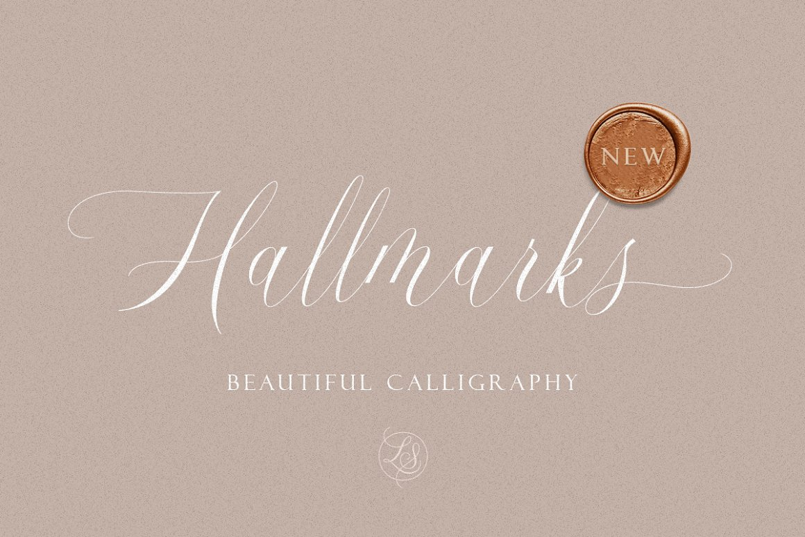 Hallmarks Beautiful Calligraphy Font -1