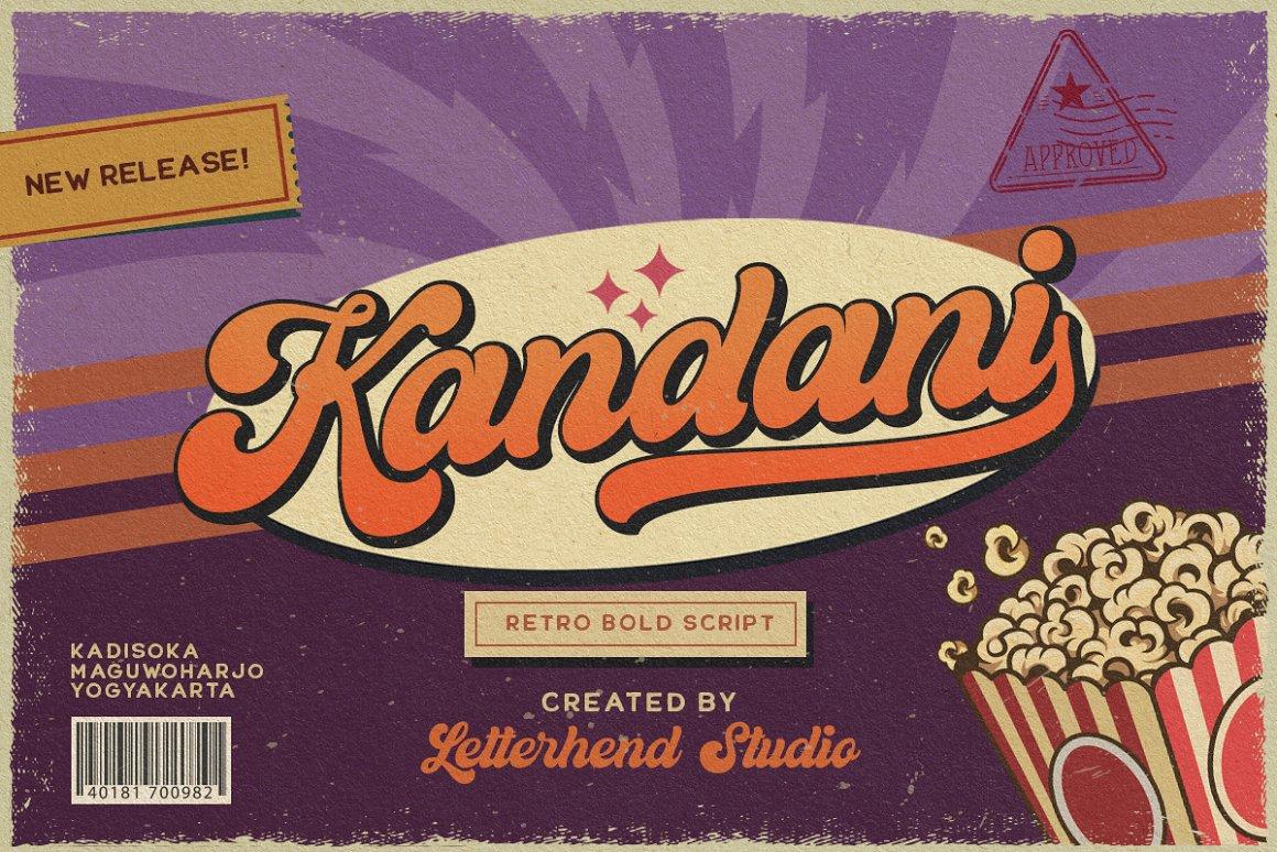Kandani Retro Bold Script Font -1