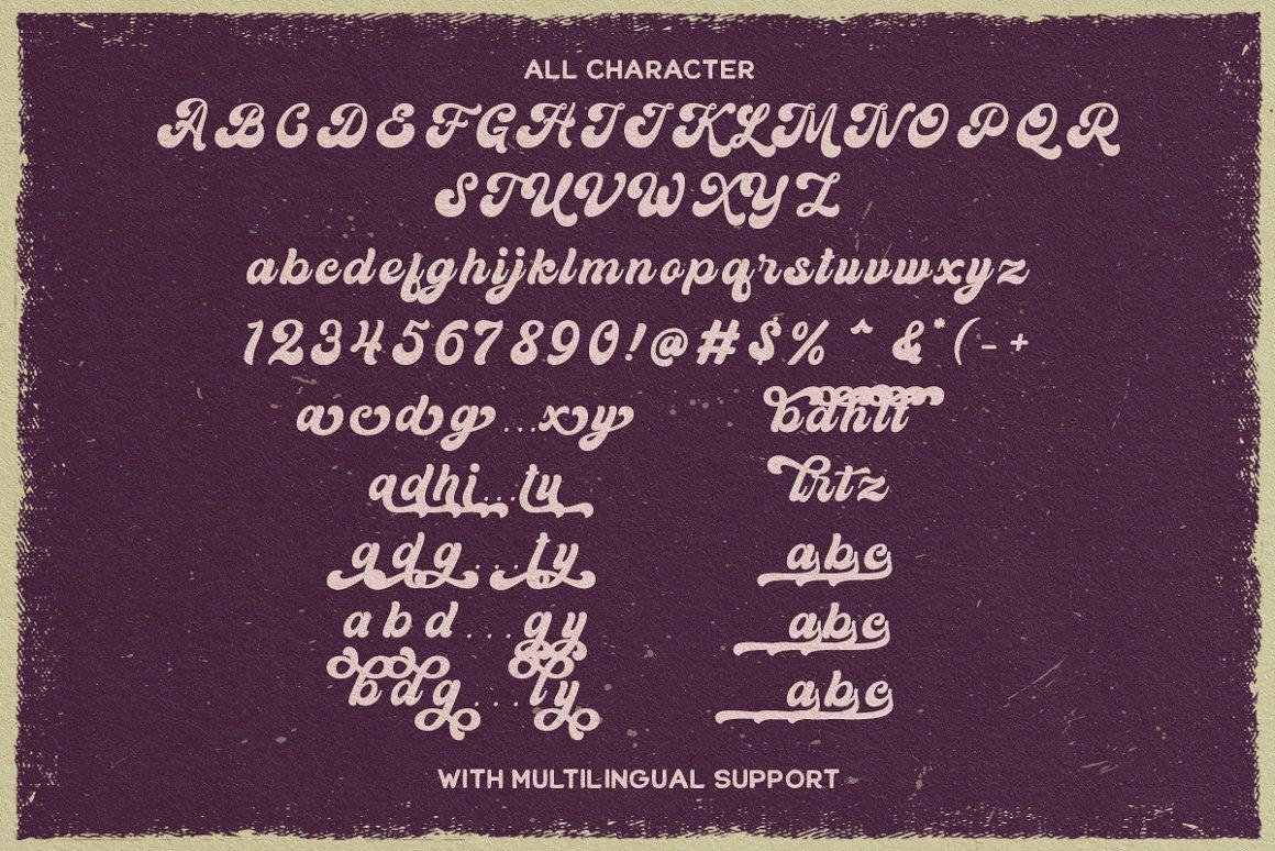Kandani Retro Bold Script Font -3