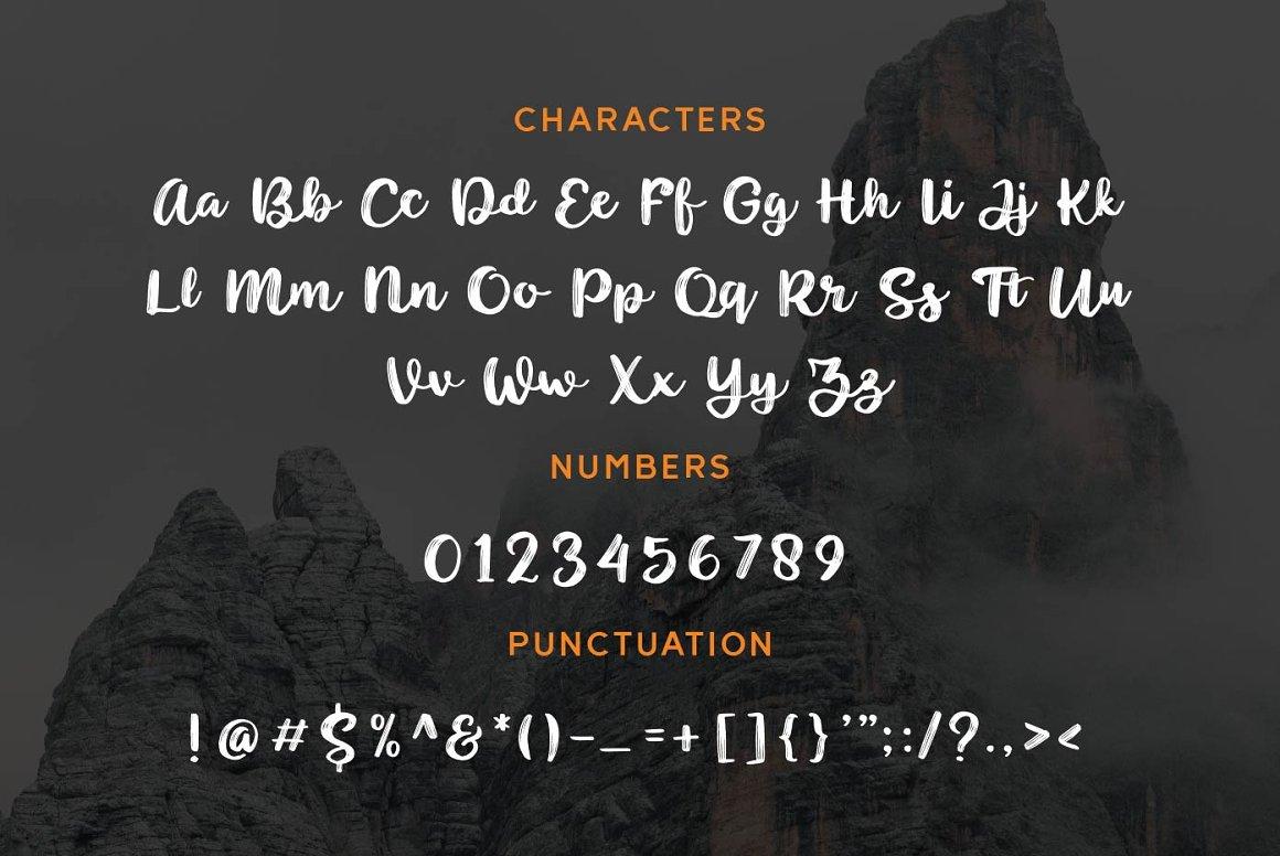 Noyram Brush Script Font -3