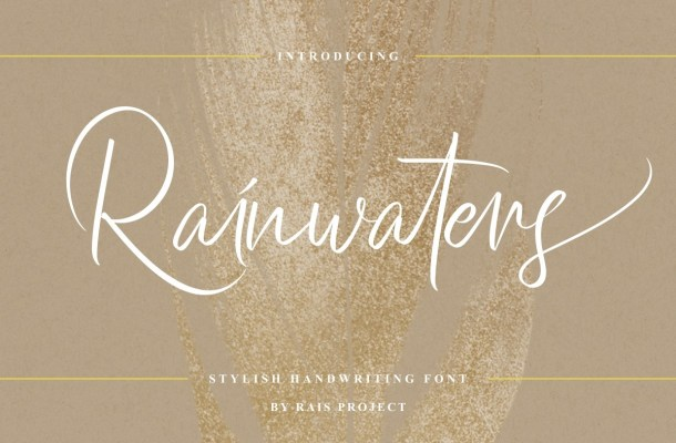 Rainwaters Font