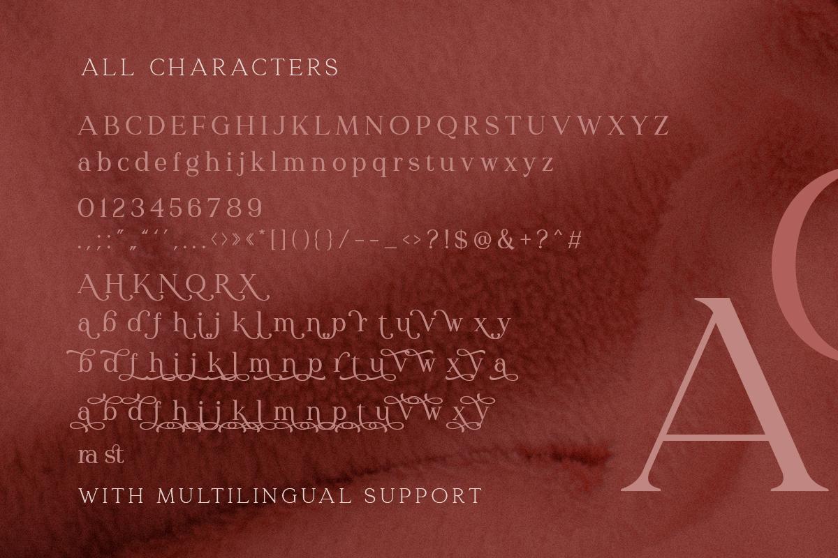 Redrains Serif Font -3