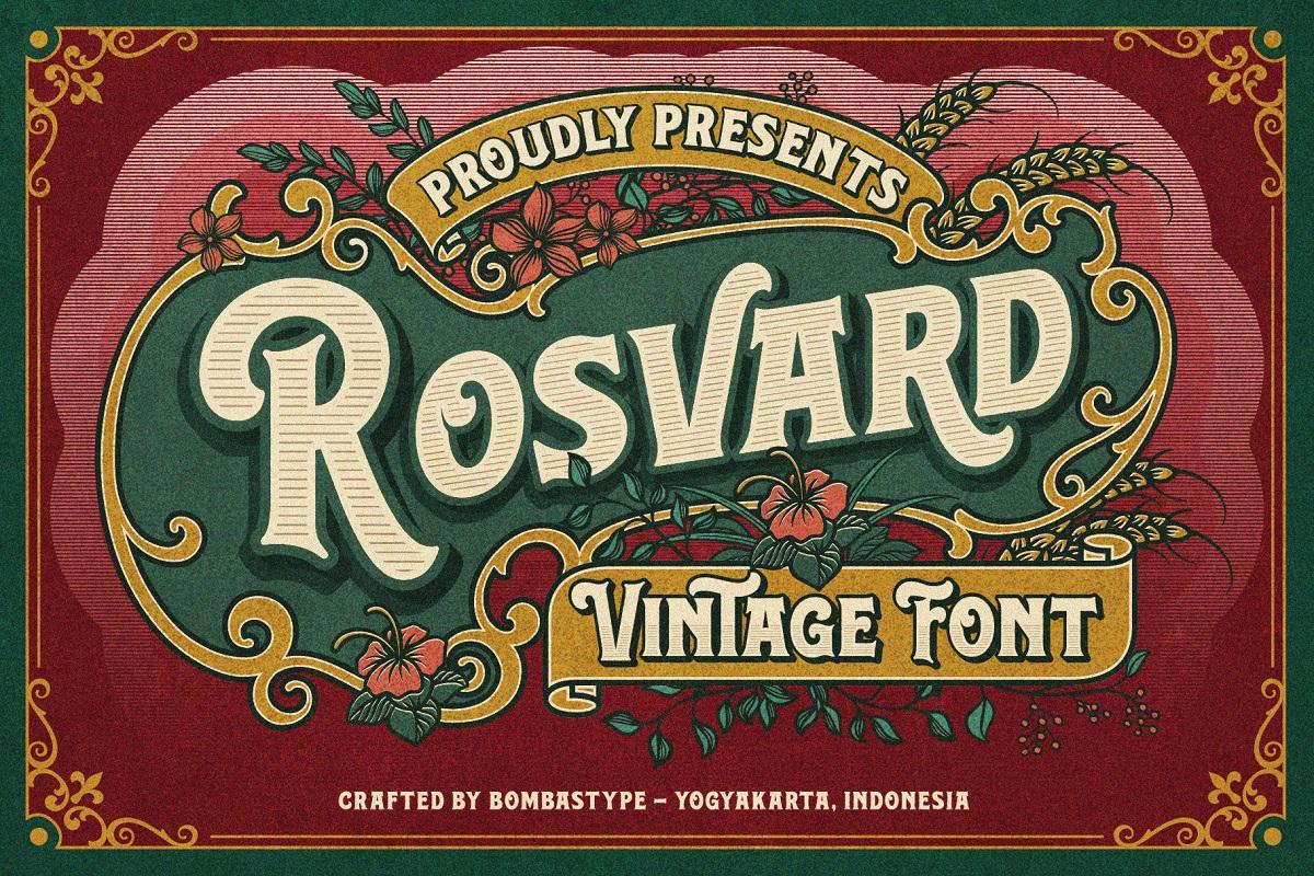 Rosvard Bold Vintage Font -1