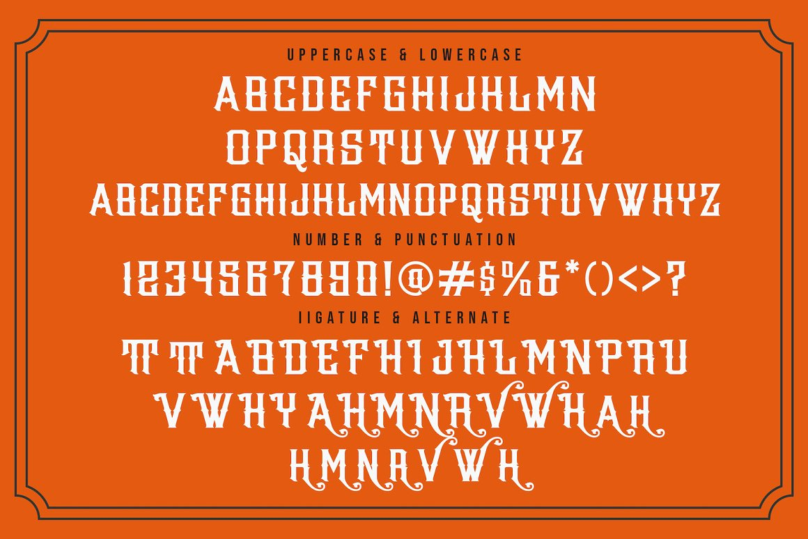 Wazintte Victorian Style Font -3