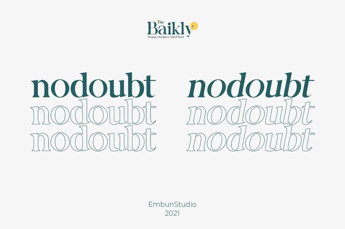 Baikly Modern Serif Font -2