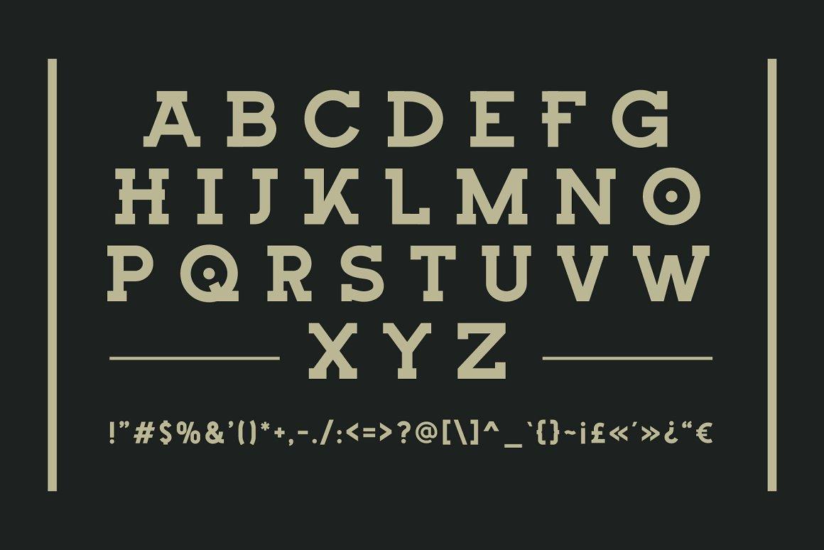 Bigtion Bold Slab Serif Font -2