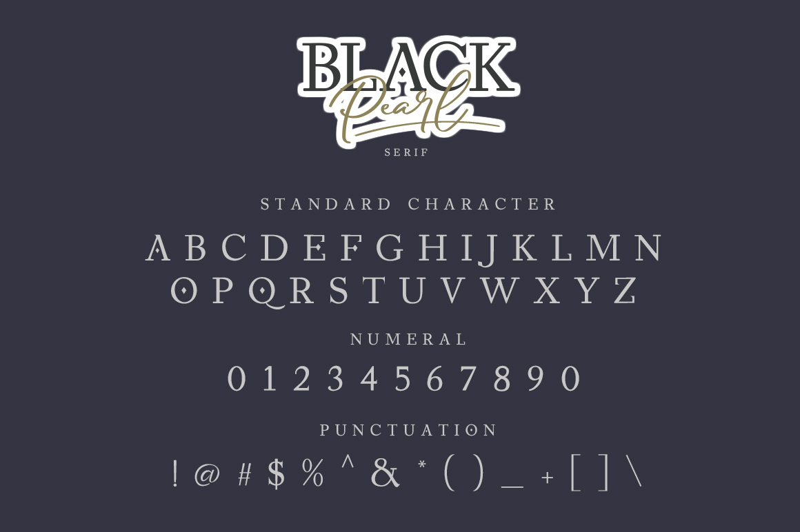Black Pearl script serif Font Duo -3