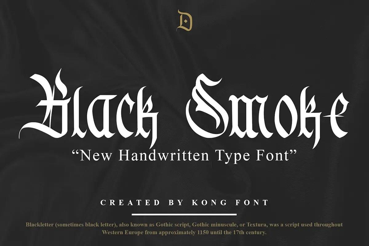 Black Smoke Blackletter Font -1