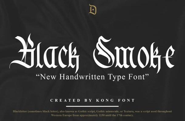 Black Smoke Font