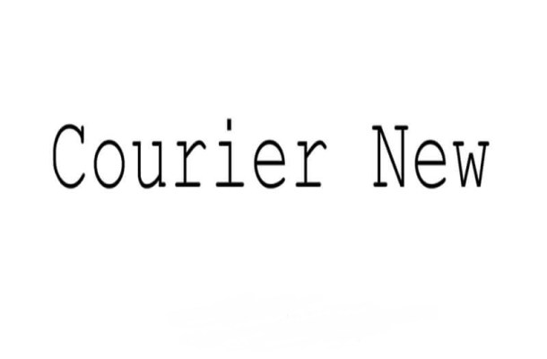 Courier New Font