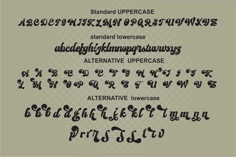 Creamer Bold Script Font -2