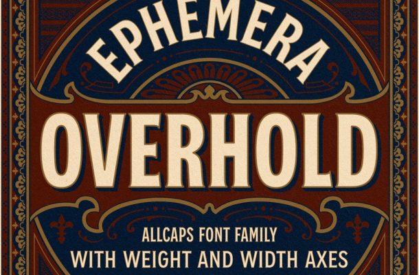 EFCO Overhold Font