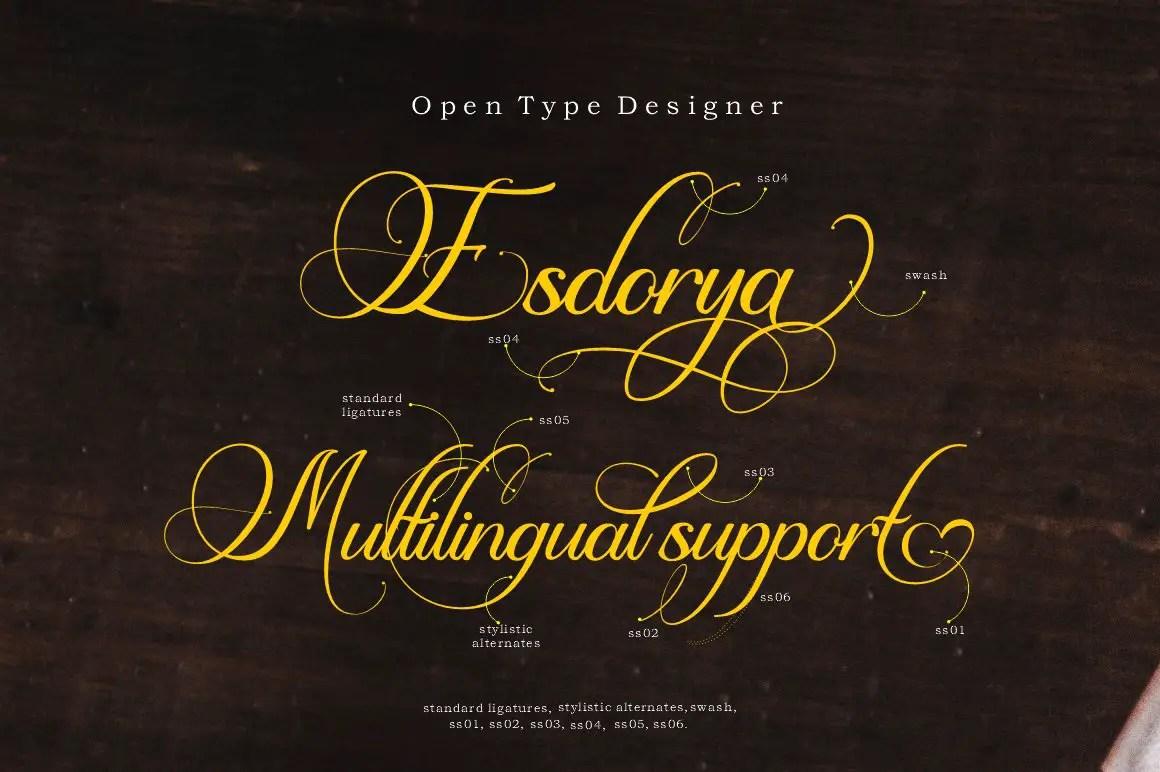 Esdoria Journey Calligraphy Font -2